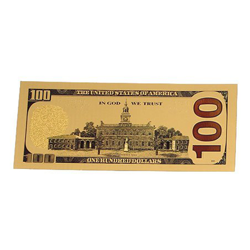 100$ US ONE HUNDRED DOLLARS BANKNOTE REPLIC GOLD 24K