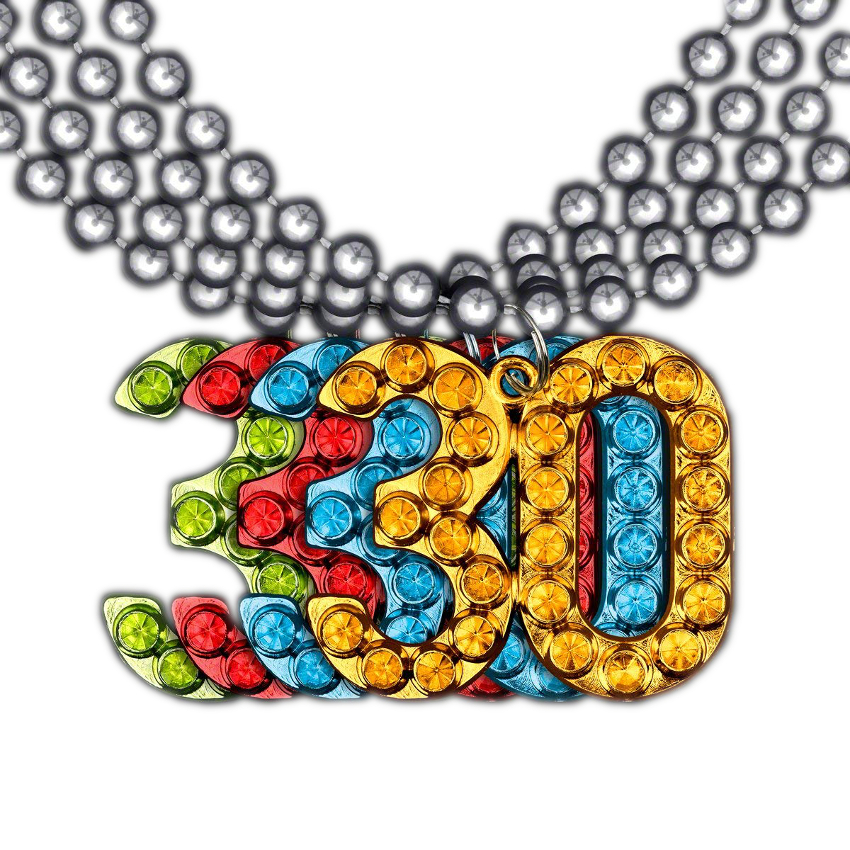 552d5af03 30 Charm on Beads Happy Birthday Bead Necklace Assorted Pack of 12 Unlit