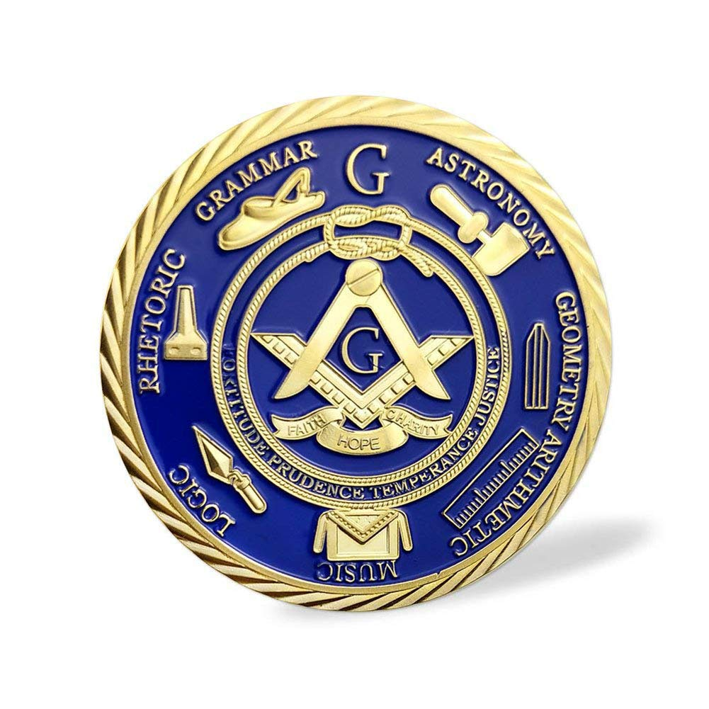 Masonic Ancient Blue Gold Challenge Coin