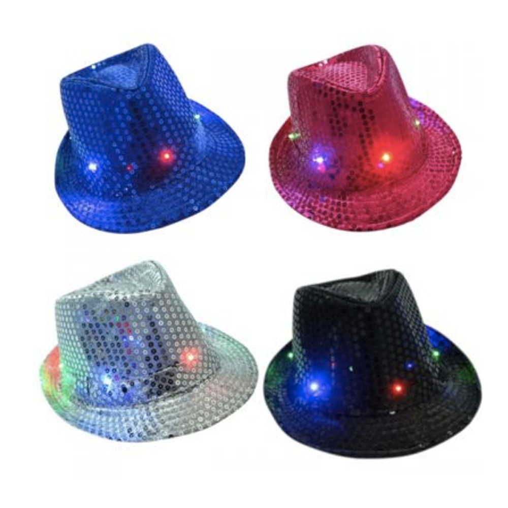 Lot of 12 pcs LED Light Up Happy New Year Hat Party Accessory Festival New Year
